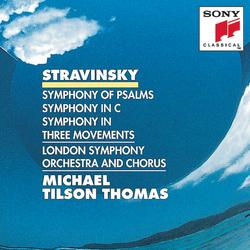 Cover image for Stravinsky: Symphony of Psalms, Symphony in C & Symphony in 3 Movements