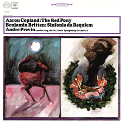 Cover image for Copland: The Red Pony & Britten: Sinfonia da Requiem, Op. 20