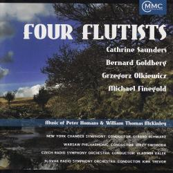 Cover image for Four Flutists - Music of Peter Homans & William Thomas McKinley