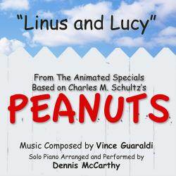 """Cover image for Linus and Lucy - from the Animated Specials Based On Charles Schultz's """"Peanuts"""" (Vince Guaraldi)"""