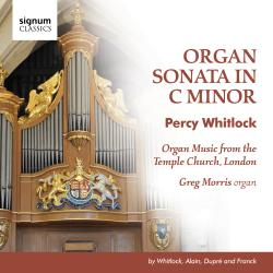 Cover image for Organ Music from the Temple Church, London by Whitlock, Alain, Dupré and Franck