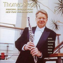 Cover image for Thomas Stacy Plays Fuchs, Berg, Ravel, Downey, Yvon and Read