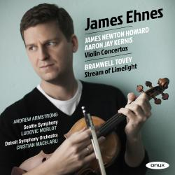 Cover image for James Newton Howard, Aaron Jay Kernis Violin Concertos, Bramwell Tovey, 'Stream of Limelight'