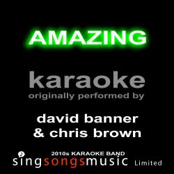 Cover image for Amazing (Originally Performed By David Banner & Chris Brown) [Karaoke Audio Version]