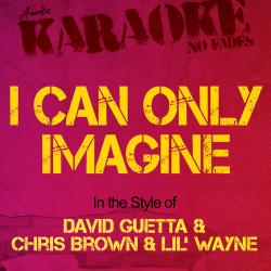 Cover image for I Can Only Imagine (In the Style of David Guetta and Chris Brown and Lil' Wayne) [Karaoke Version]