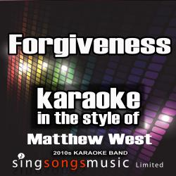 Cover image for Forgiveness (In the Style of Matthew West) [Karaoke Version] - Single