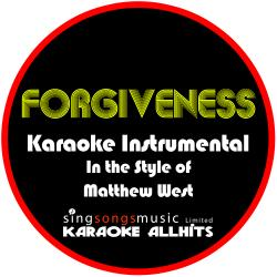 Cover image for Forgiveness (In the Style of Matthew West) [Karaoke Instrumental Version] - Single