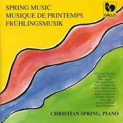 Cover image for Spring Music: Sinding, Grieg, Reger, Goetz, Tchaikovsky, Mendelssohn, Gruenberg, Liszt, Suk, Milhaud & Friedman