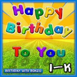 Cover image for Happy Birthday to You I-K